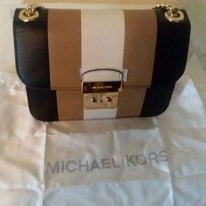 dbadc8997c18 Michael Kors Bags - Michael Kors Multi Stripe Sloan Editor Medi BlackE